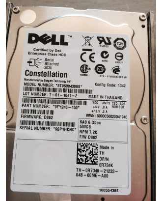 DELL SEAGATE 500GB 7.2K SAS 2.5