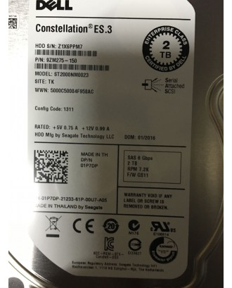 Dell 01P7DP 2TB Near Line, 6Gbps SAS 3.5