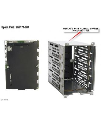 HP Compaq SCSI 6x1 Hot-Plug Drive Cage with Backplane Proliant M
