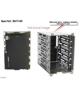 HP ML350G4 HP-SCSI US Hard drive cage with SCSI simplex backplan