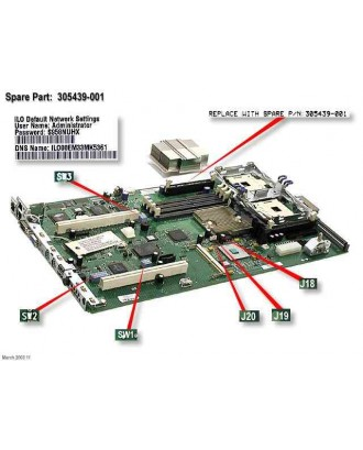 HP Prioliant DL360 G3 System I/O Board
