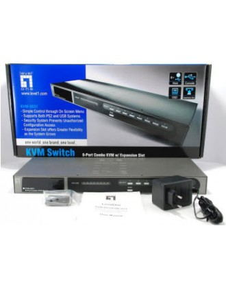 Level One IP KVM switch 8 ports for PS2